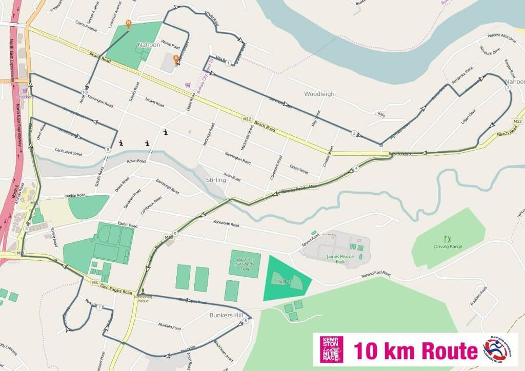 Kempston Ladies Nite Race 10km Route