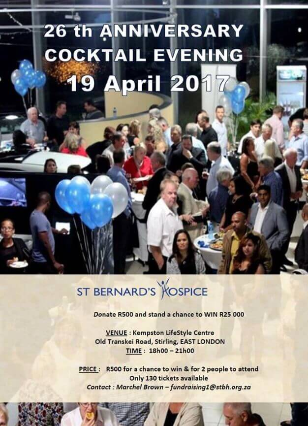 St Bernard's Hospice 26th Anniversary Cocktail Evening