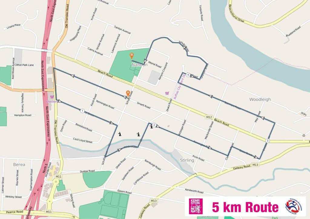Kempston Ladies Nite Race 5km Route